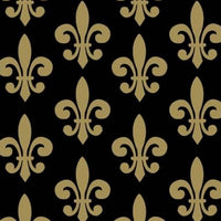 Anti-Pill Fleur De Lis Gold Fleece F1301