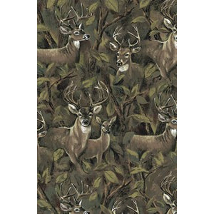 Anti Pill Deer In Forest Fleece F418