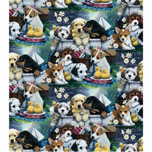 Anti-Pill Puppies In Bath Fleece F1032