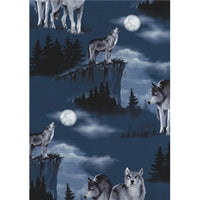 Anti Pill Baying Wolves Fleece F439