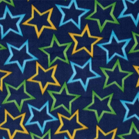 Anti-Pill Stars On Blue Fleece F1241