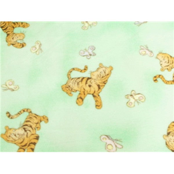 Anti-Pill Mint Tiger Butterfly Fleece F921