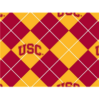 Anti-Pill USC Argyle Fleece F260