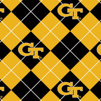 Premium Anti-Pill Georgia Tech Argyle Fleece B585