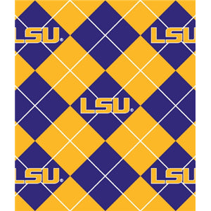Premium Anti-Pill LSU Argyle Fleece B645
