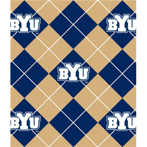 Premium Anti-Pill BYU Argyle Fleece B649