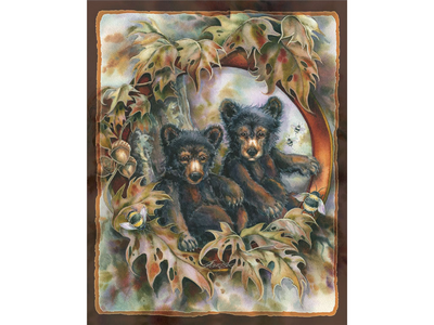 Anti-Pill Jody Bergsma Bears & Bees Fleece Panel F796
