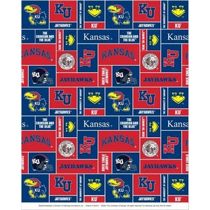 Premium Anti-Pill Kansas, University Of Fleece B345