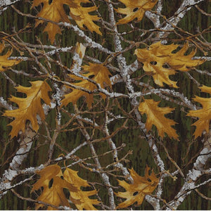 Anti-Pill Maple Leaves Branches Fleece F1285