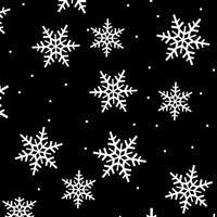 Anti-Pill Snowflakes Allover Black Fleece F1279