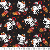 Anti-Pill Hello Kitty On The Go Black Fleece F1249