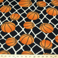 Anti Pill Basketballs On Black Fleece F324