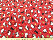 Anti-Pill Hello Kitty Leopard Red Fleece F392