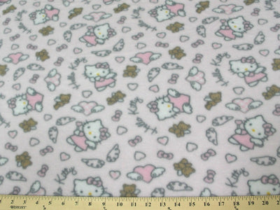 Anti-Pill Hello Kitty Angel Teddy Pink Fleece F485