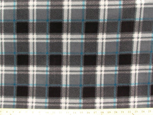 Anti-Pill London Plaid Charcoal Fleece F1324