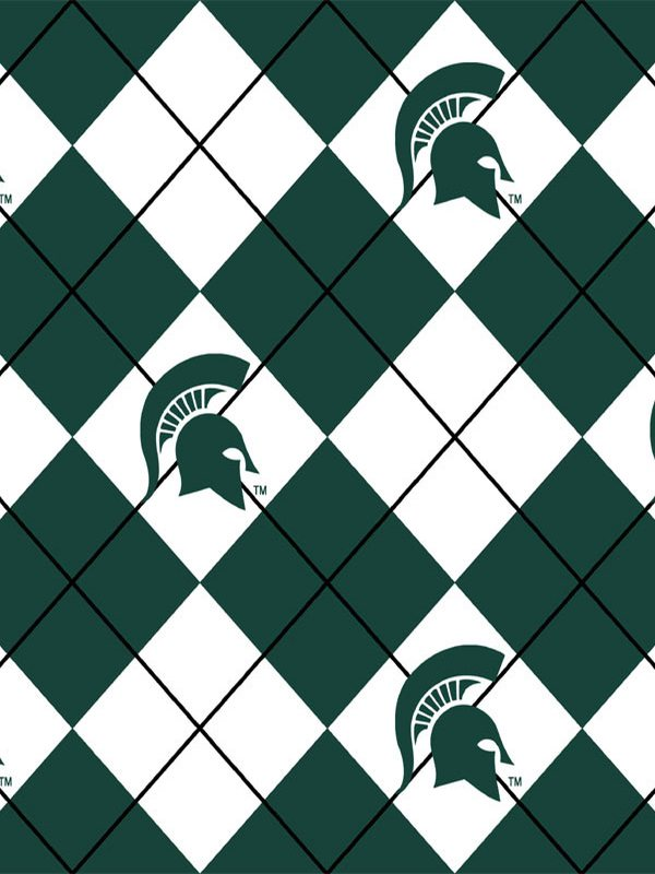 Premium Anti-Pill Michigan State Argyle Fleece B575