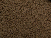 Brown Minky Sherpa Lambs Wool
