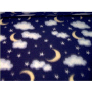 Premium Anti-Pill Moons Clouds Stars Fleece 247