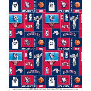 Anti-Pill New Jersey Nets Fleece F312