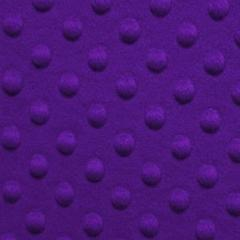 Purple Minky Dimple Dot Fur