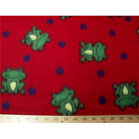 Anti-Pill Frogs Red Fleece F1083