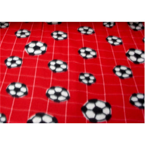 Soccer Net Red Fleece F49