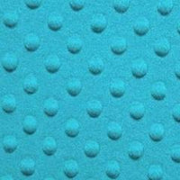 Turquoise Minky Dimple Dot Fur