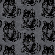 Premium Anti-Pill Wolf Heads Fleece F827
