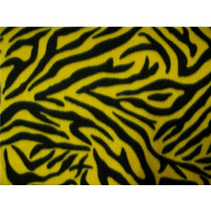 Zebra Black Yellow Fleece F276
