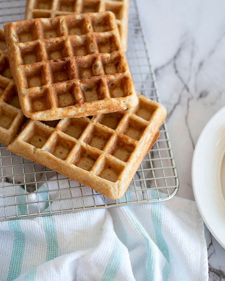 These homemade waffles = the best waffle recipe you'll ever try. Get the recipe now!