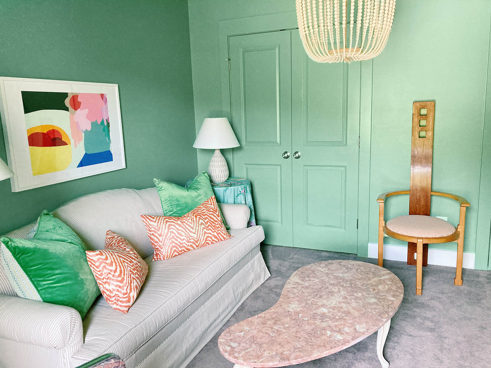 This designer's spare room doubles as a guest bedroom and home office. See how she maximized the space with inspiring ideas for a guest bedroom.