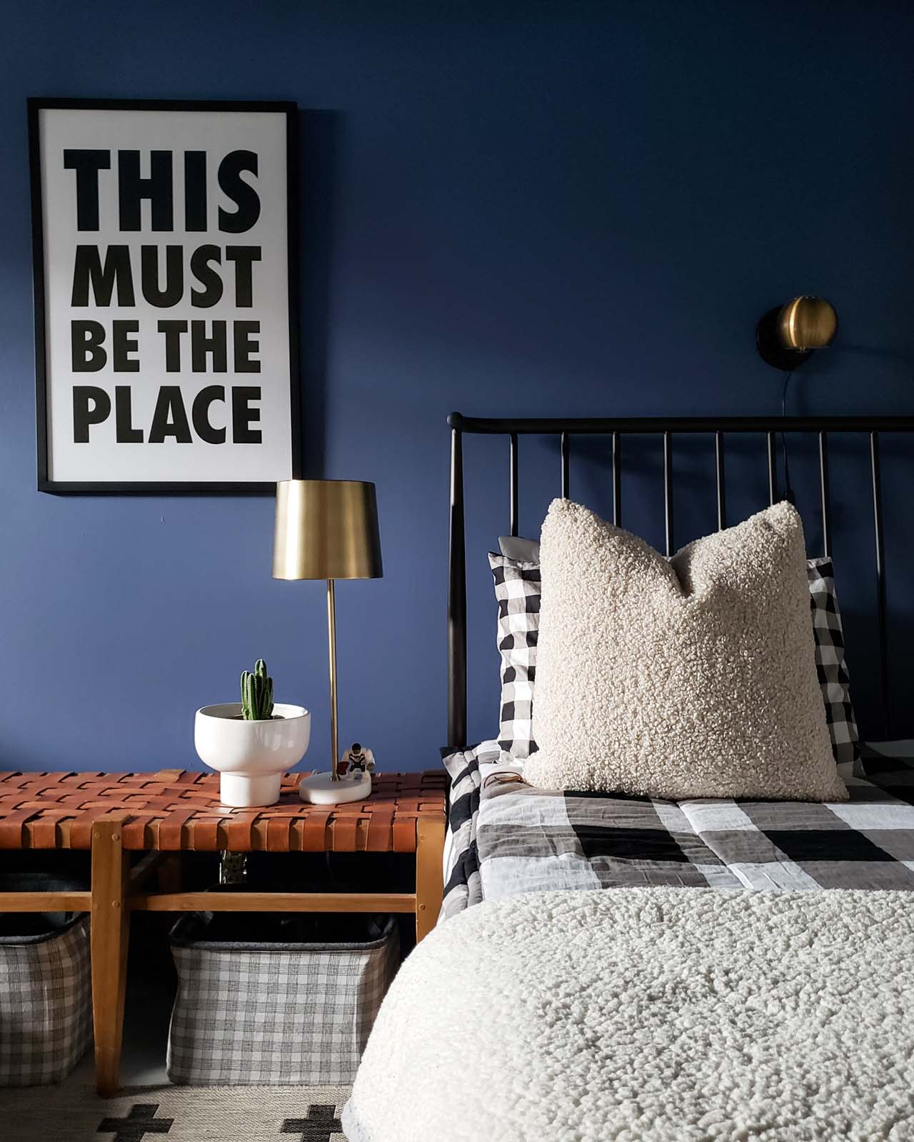 Inspiring boys' bedroom paint ideas are right this way! See how one mom found the perfect blue paint color for her boys' bedroom, plus decor tips galore.