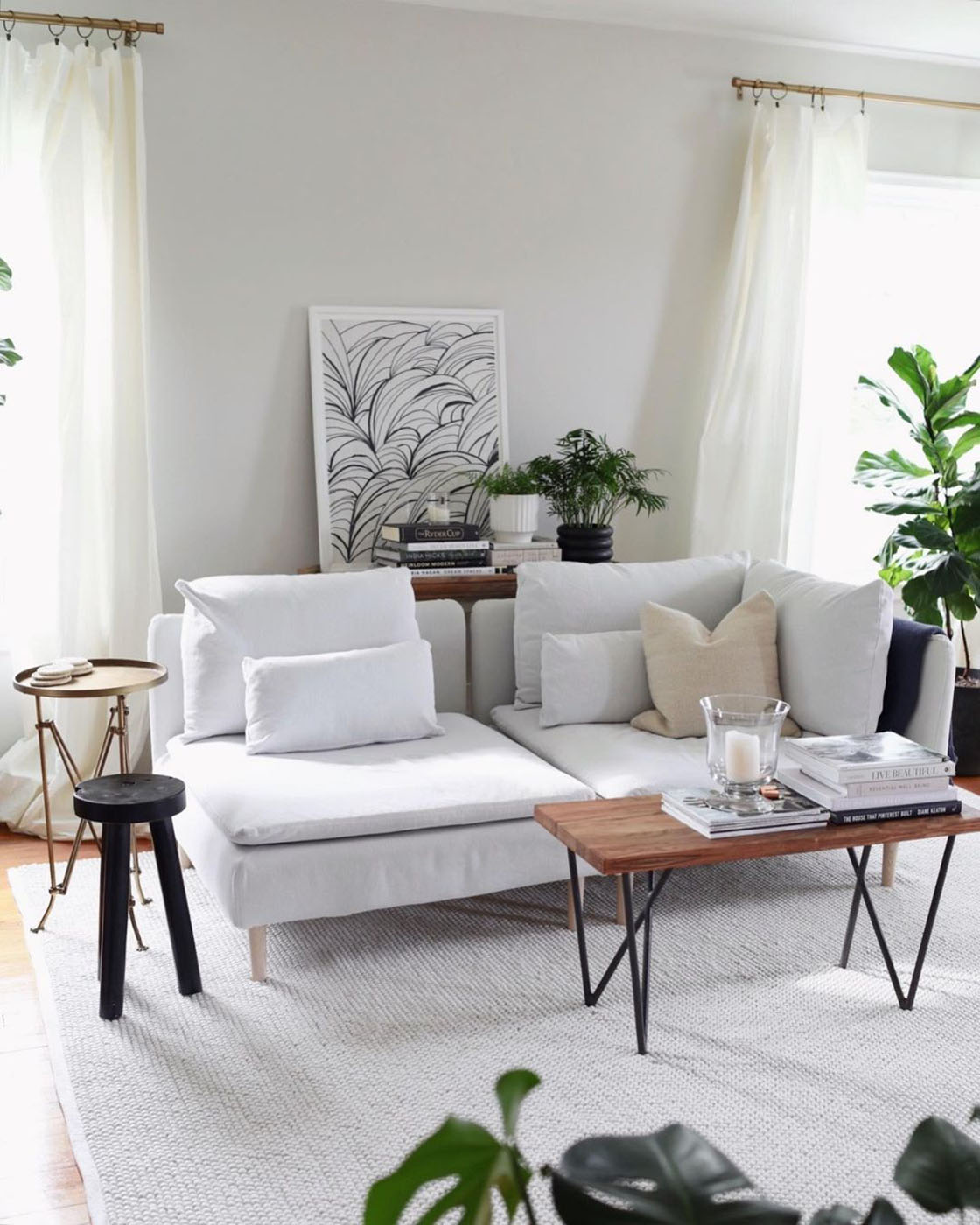 Easy DIY to Warm Up Your Living Room