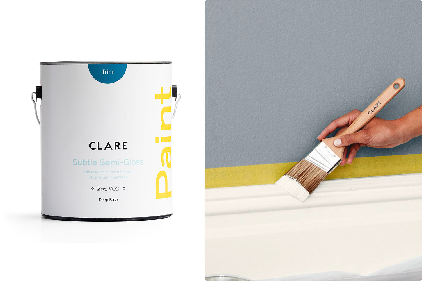 The best paint finish for walls is semigloss. This is semi-gloss paint from Clare