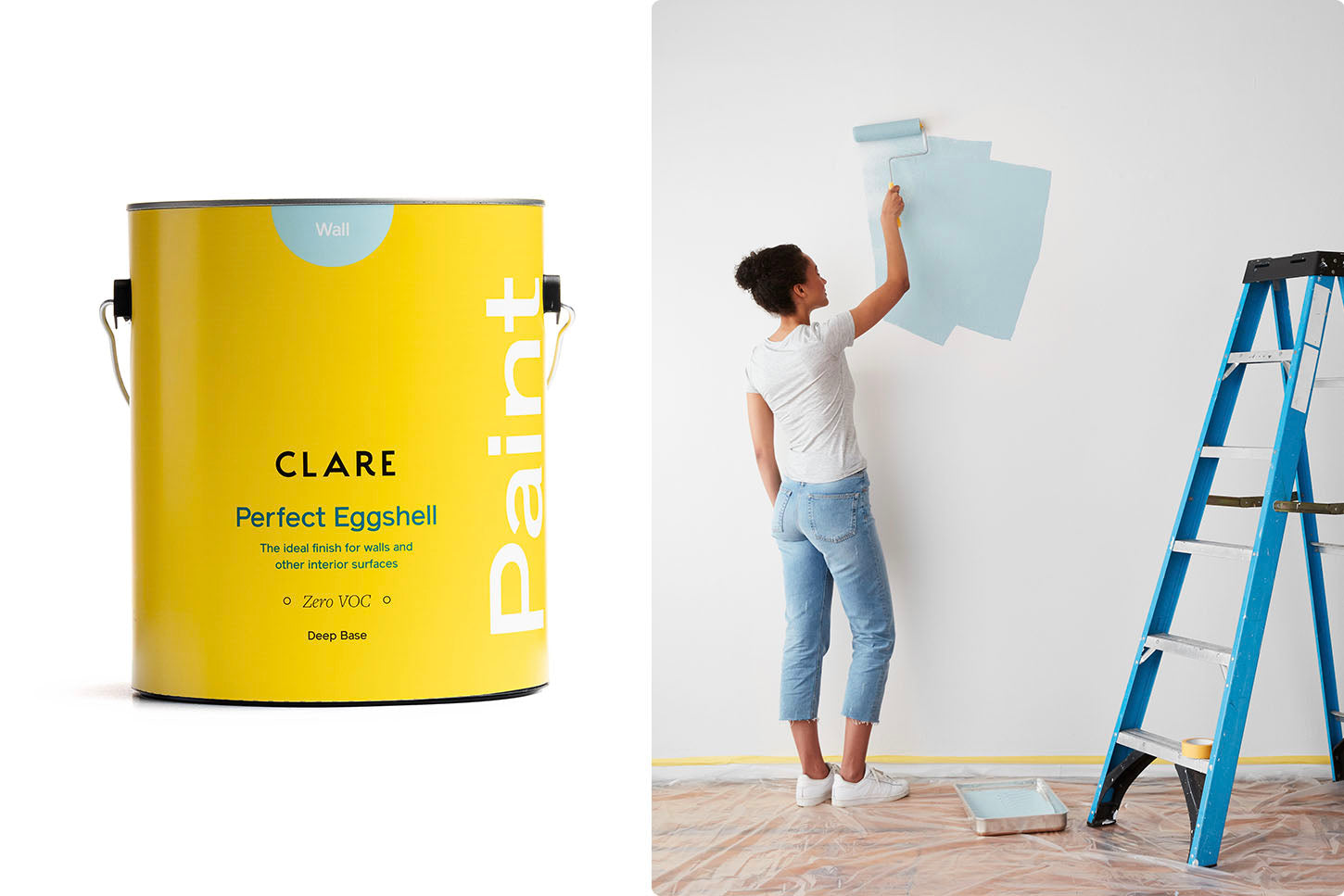 The best paint finish for walls is eggshell paint