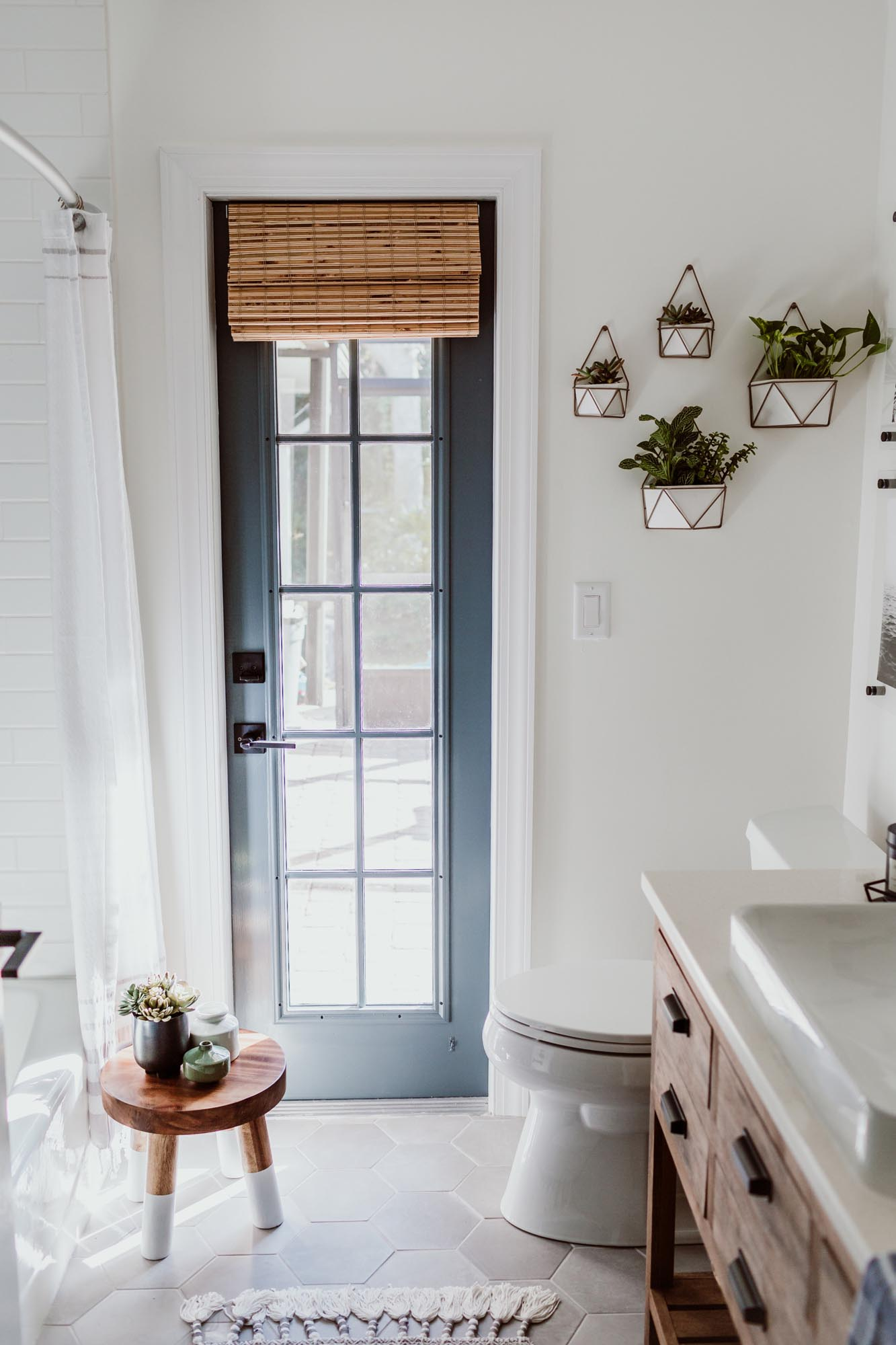 bathroom in whipped and door in irony