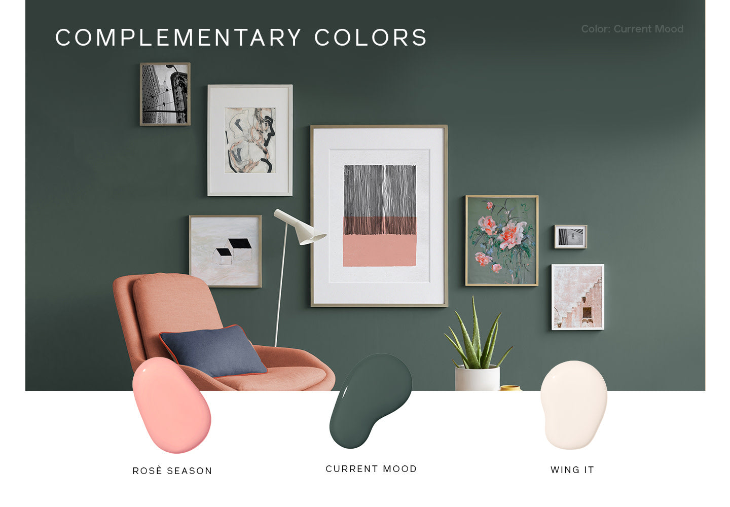 Complementary Paint Color Combinations make for the perfect room color schemes