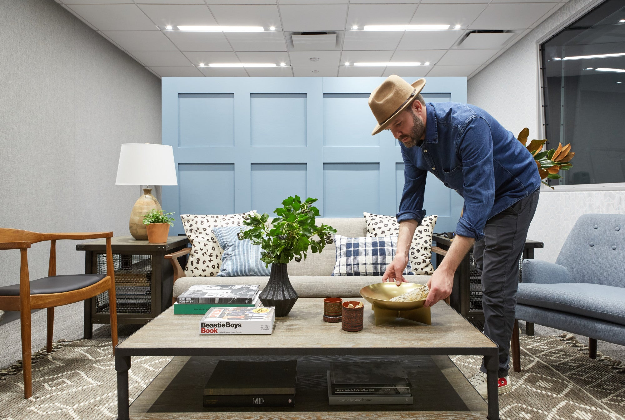 See the before and after photos of Pure Wow's studio makeover, painted in Clare's Good Jeans.
