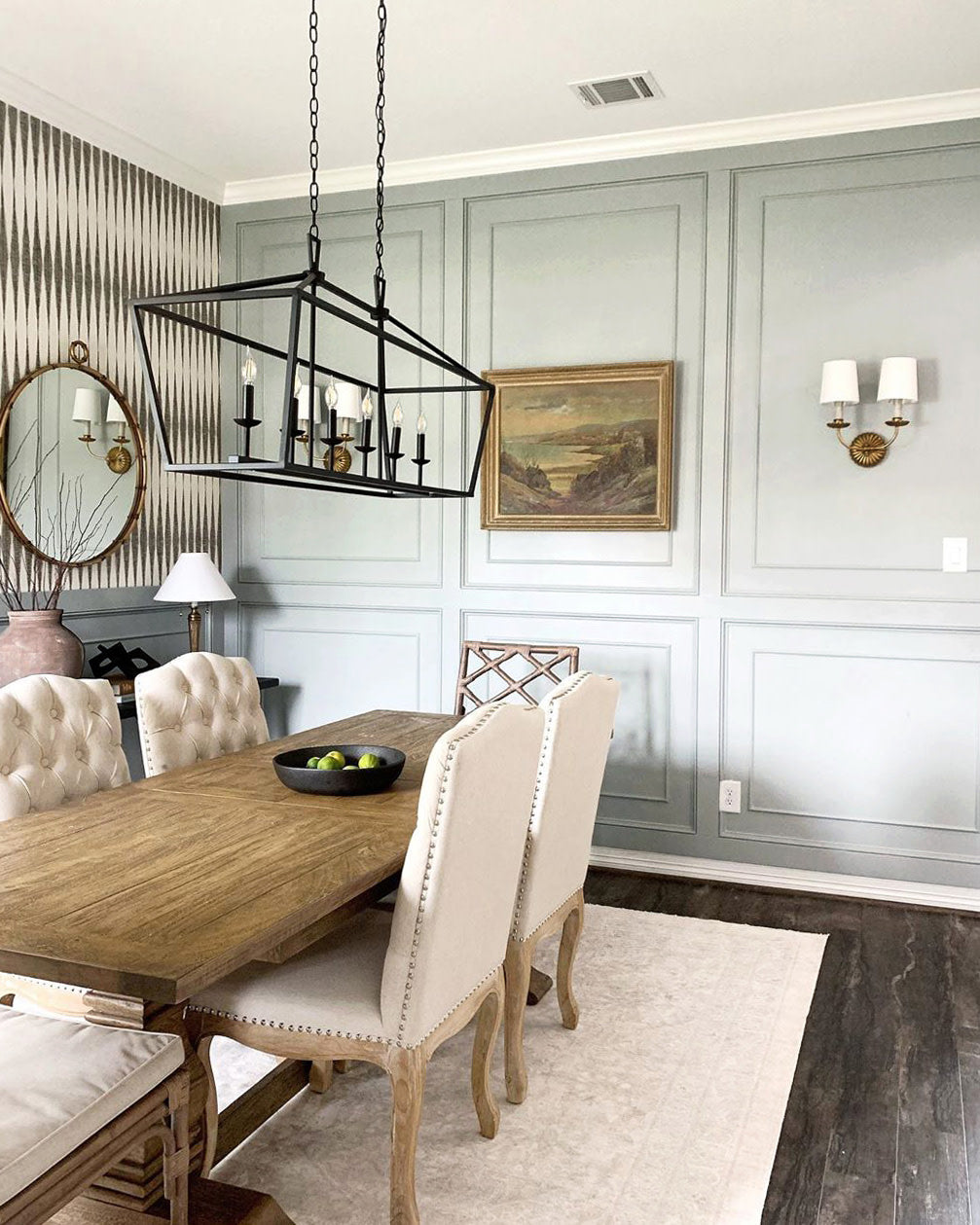 Creativity is all it takes to personalize your space. From wallpaper to DIY wainscoting, here are some amazing dining room design ideas.