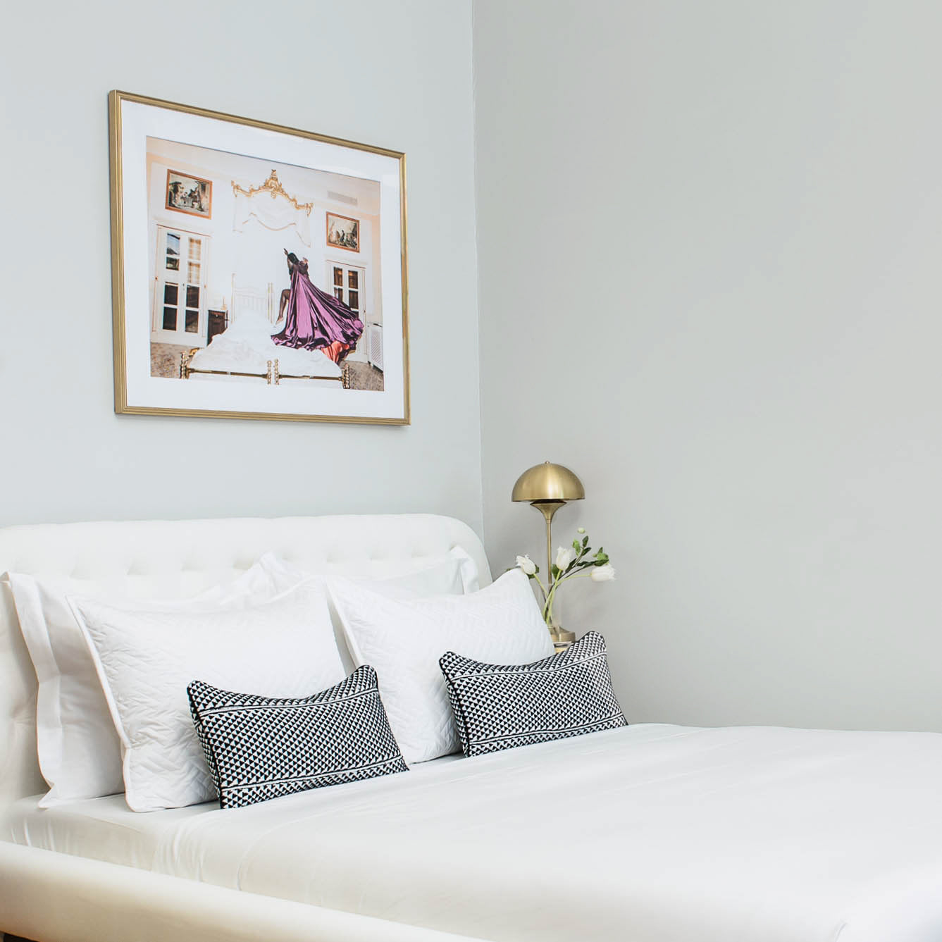 How to create a welcoming guest room for houseguests, featuring gray paint color Seize the Gray by Clare.