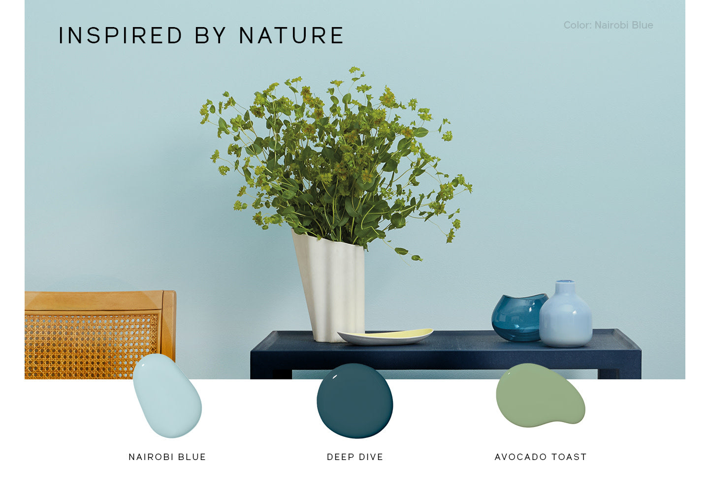 Look to nature to help determine what paint schemes and colors look good together.