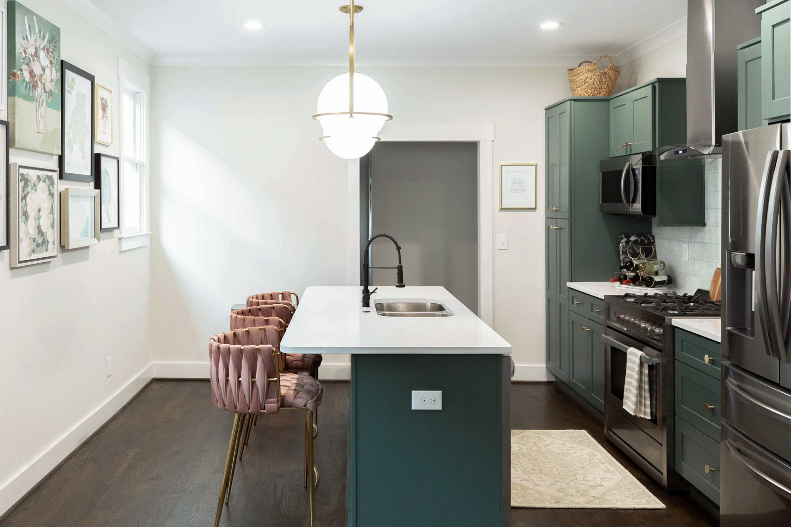green kitchen cabinets | Current Mood by Clare Paint