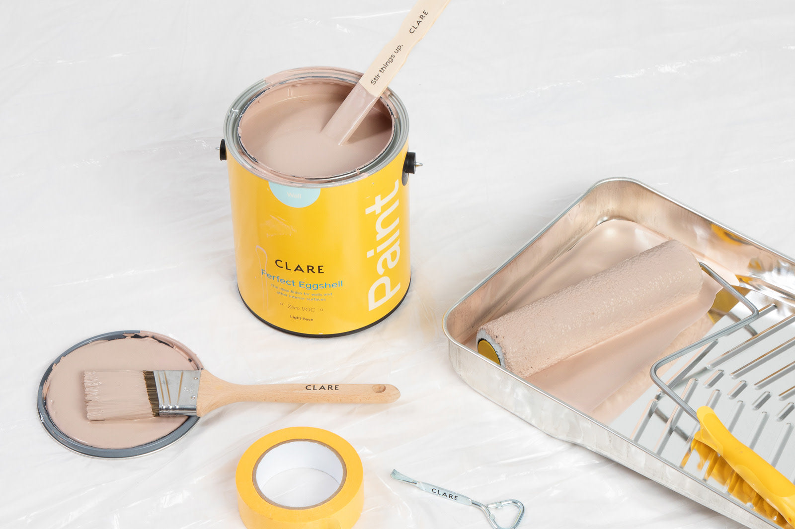 Clare's newest paint colors are here — just in time for your next paint project. Introducing Meet Cute, a rosy pink, and Good as Gold, a dark yellow!