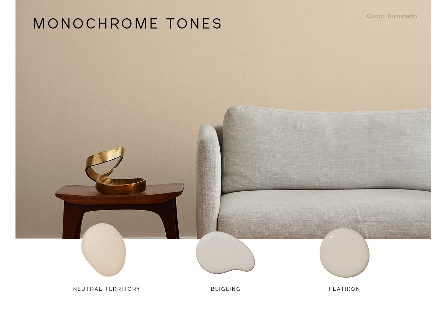 Tone on tone paint colors make for a foolproof room color scheme
