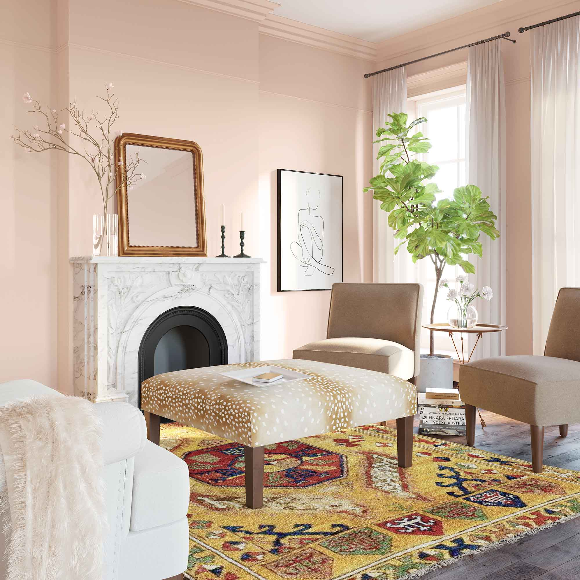 Wing It Soft Pink Living Rooms Wall Color Clare Paint