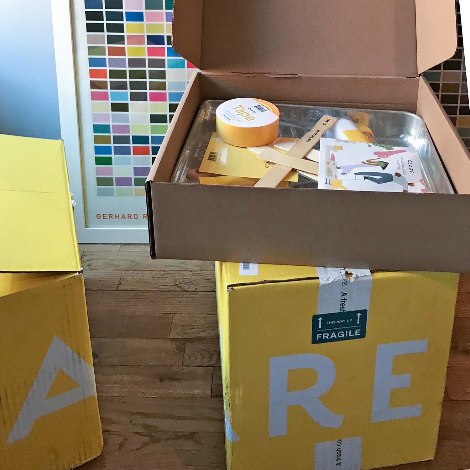 This city dweller had high-quality paint and supplies delivered straight to her door! Check out the 5 lessons she learned from painting her apartment for the first time.