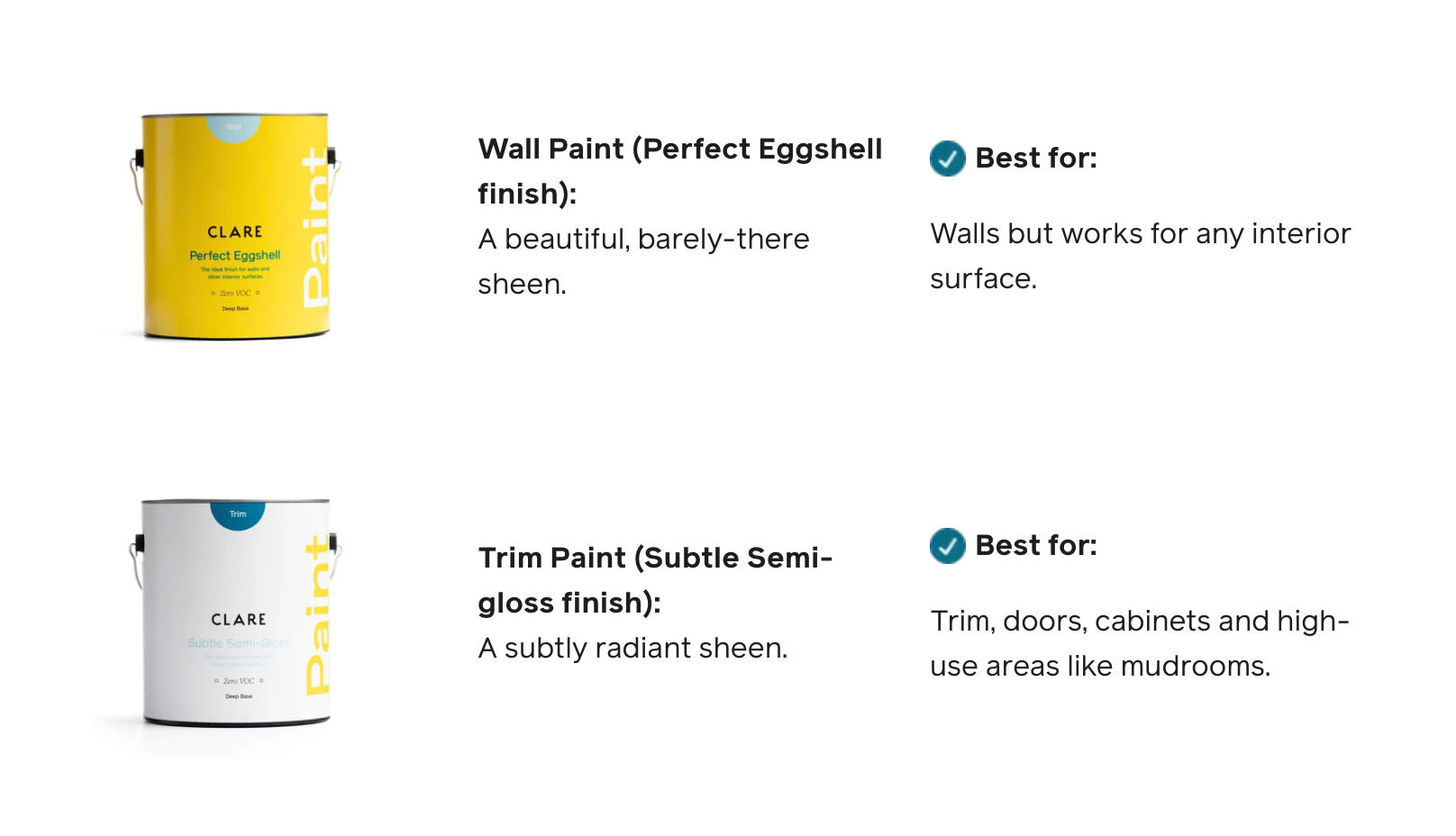 Not sure what interior paint finish is right for your space? These are the only two finishes you need t— no matter what room or surface you're painting.