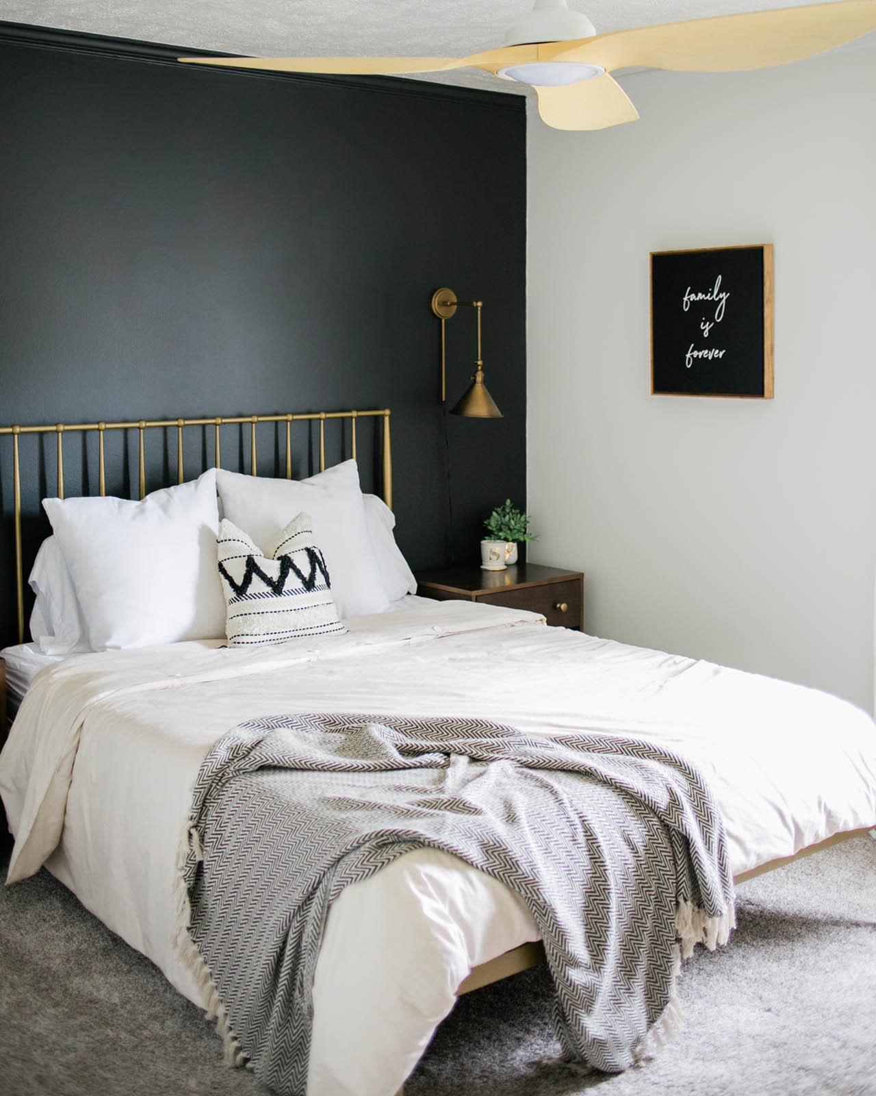 Styling a Black Accent Wall