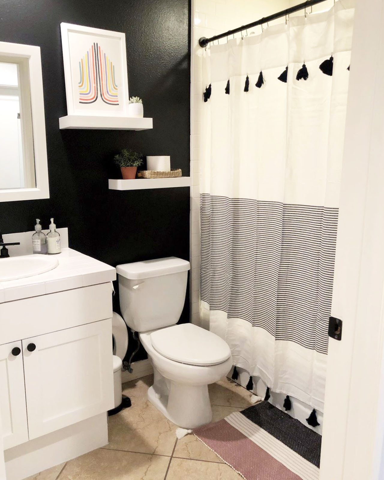 Considering black walls in your home? These 5 black rooms will convince you to give our darkest paint colors, Blackish and Blackest, a try. Get inspired!