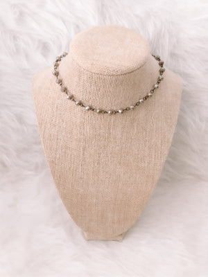 Grey and Gunmetal Choker